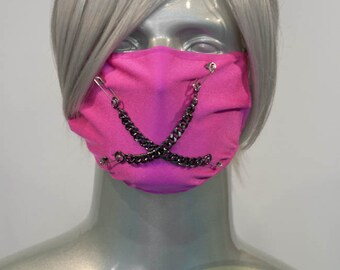 Hot Pink J-Rock Surgical Mask