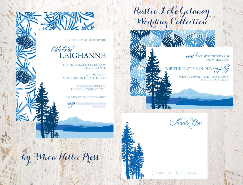 Wedding Invitations Rustic Lake Getaway Collection
