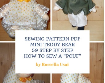 Teddy Bears Step by Step Photo Tutorial -  Patterns, her & him, body and clothes,  how to make teddy bears, 59 Step by Step
