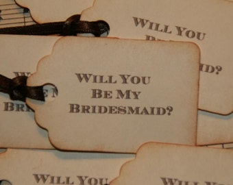 Will You Be My Bridesmaid Tags