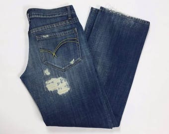 Take two connors W33 L34 Tg(IT)46/47 jeans relaxed dritti strappi uomo usati T2035