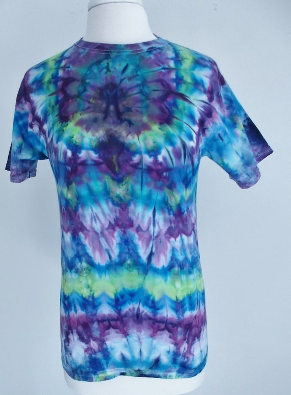Ice-Dyed Tie Dyed Spider short sleeve crew neck Tshirt, Small