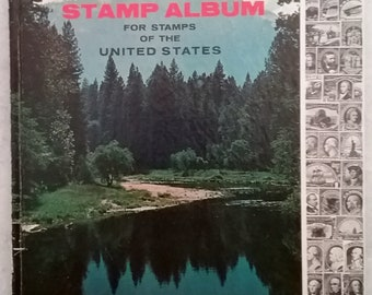 Frontiersman Stamp Album, For Stamps of the United States, 1967 Whitman Publishing Co, B/W illustrations, history stamps, stamp collecting