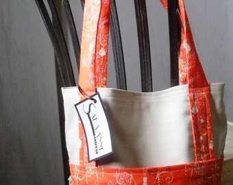 Red-Orange Chandelier Print Tote Bag