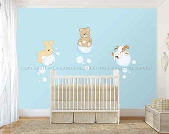 Wall decals kids Wall stickers Baby Nursery Room Decor Soap Bubbles