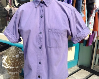 vintage *faded* purple button up