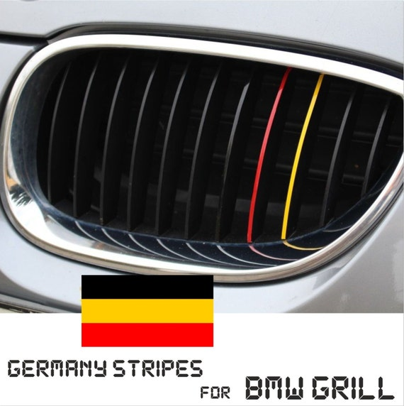 BMW Kidney Grill Germany German Stripes M Sport Sticker Decal - Bmw m colored kidney grille stripe decals