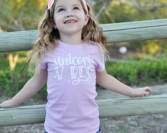 Unicorn Vibes Girls Shirt, magical, unicorn horn