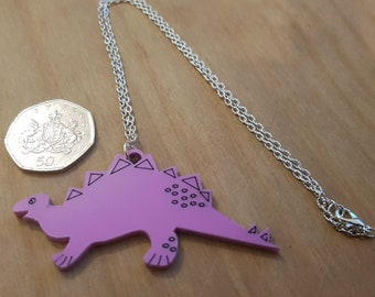 Dinosaur Necklace, Purple Dinosaur,Purple Dinosaur Necklace, Necklace,Dinosaur Gifts,Gifts For Her,Gifts for Girls