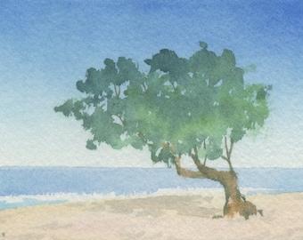 Original ACEO watercolor painting - Caribbean dream