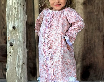 2T Girls Dress, Vintage Floral Dress, Peasant Dresses, Long Sleeve Dress, Girls Dresses