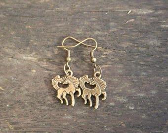 Bronze earrings, handmade by myself / Earrings, bronze