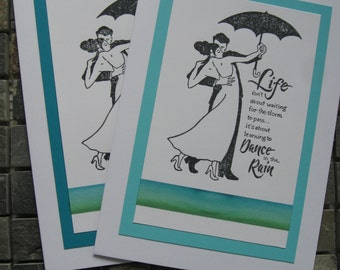 life dance in the rain cards