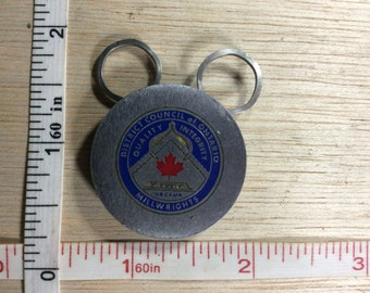 Vintage Keychain District Council Of Ontario Millwrights Used
