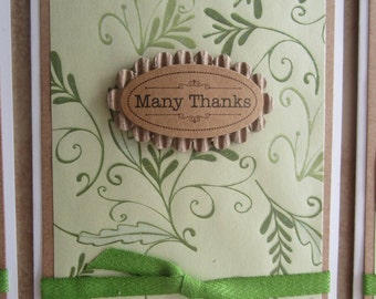 Thank You 6pc Set Note Cards