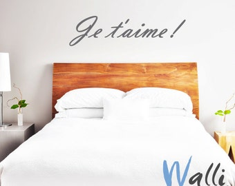 Love lettering wall art decal je t'aime for home decor