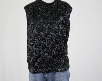 1960s Sequined Sweater Shell made in Hong Kong 40
