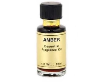 Amber Oil 10ml - Essential fragrance oil, Candle dressing, Aromatherapy, Scent magick, Warm amber, Annointing oil, Rich honey aroma