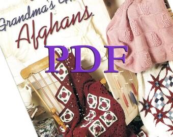 PDF - Crochet Grandma's House Afghans, 1998, 6 designs