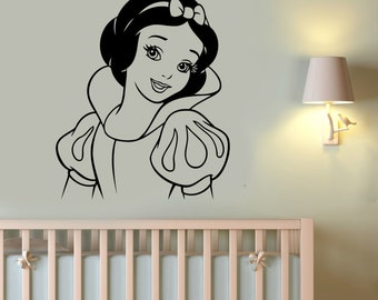 Snow White Wall Decal Vinyl Sticker Seven Dwarfs Disney Art Cartoon Decorations for Home Girls Baby Room Nursery Bedroom Decor snow2