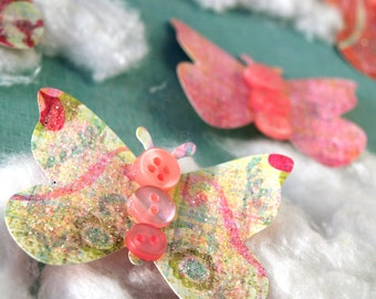 Butterflies - Sweet Pea Patch - set of 5 paper butterfly accents