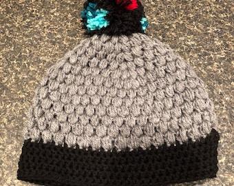 Gray Crochet Toboggan
