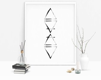 Element Symbols | Four Elements | Earth Air Fire Water | Instant Download | Art Prints | Witch Prints