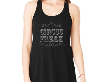 Circus Freak Racerback Tank / aerial fitness / aerial hoop / aerial silks / circus / cirque / pole dance - (black)