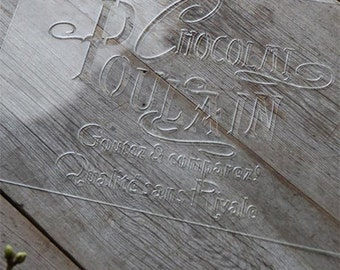 French Text Stencil Decorating Craft Supply