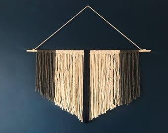Large Minimalist Yarn Wall Hanging