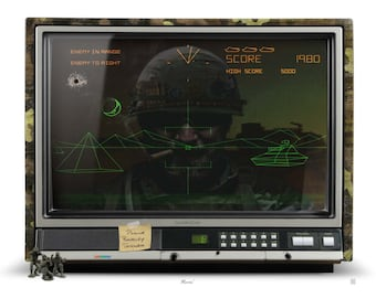 Atari Battlezone inspired original limited edition of 20 - video game art