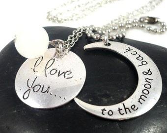 Love necklace pendant set for couples