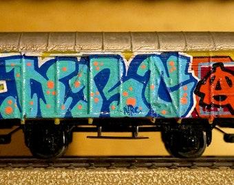 Wagon train Buco HO graffiti - tag - handmade