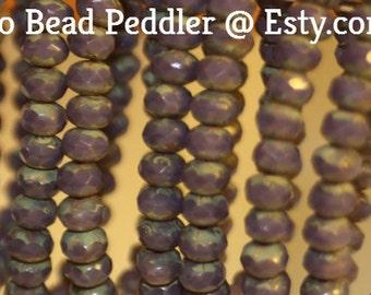Czech Glass Beads, 5x3mm Rondelle, 30 Beads