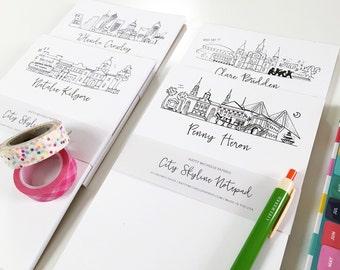 ANY CITY Personalized City Skyline Notepad