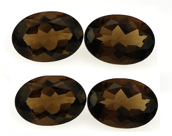 14x10mm Natural AAA Smoky Quartz Cut Oval High Quality Great Price Matched Pairs