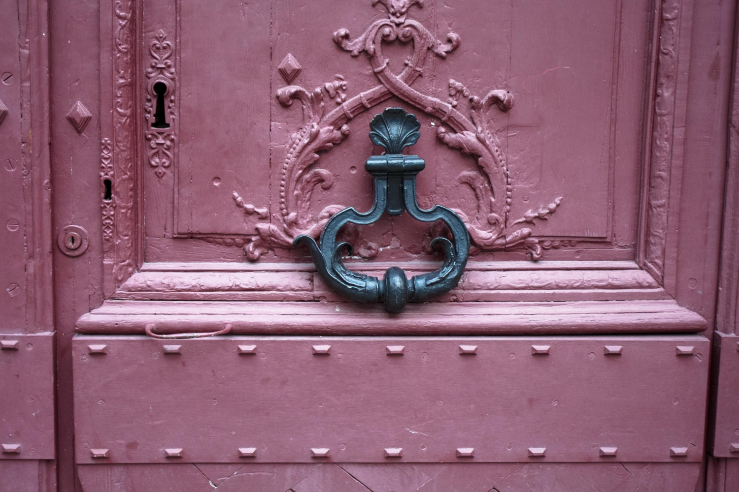 🔎zoom & Paris Photography Pink Doors in Paris French Home Decor