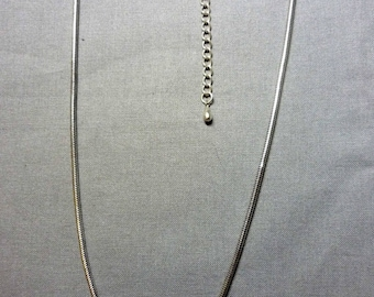 Chain snake 3mm silver-plated 48cm