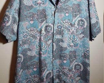 Vintage Men's Short Sleeve Paisley Shirt