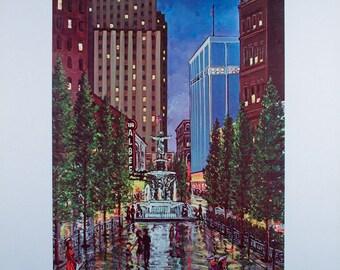 CINCINNATI PRINT, Cincinnati, Cincinnati Skyline, Cincinnati Poster, Wall Art, Wall Decor, Home Decor, Art Prints, Cincinnati Art, CItyscape