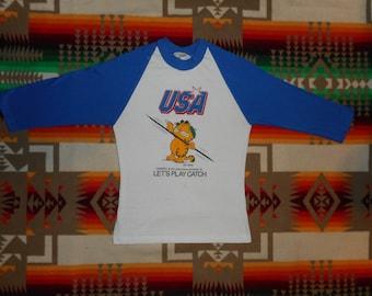 Garfield USA Jersey T Shirt Size small
