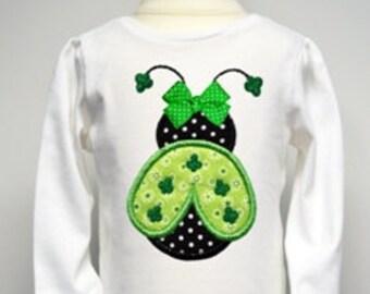 Shamrock Ladybug Applique