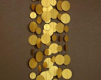 Gold decor, Gold wedding decor, Gold decorations, Gold wedding garland, Gold garland,Paper garland, PCG-5308