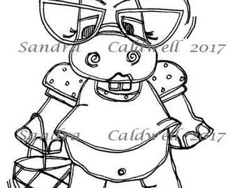 1465 I Can See Hippo Digi Stamp
