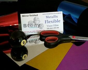 Flexible Metallic Visor material