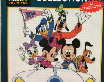 Mickey Mouse Unlimited~Ultimate CROSS STITCH COLLECTION~Pattern Book~63 Projects