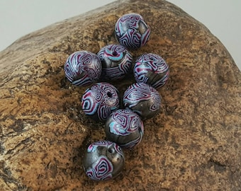 Funky polymer clay beads - Item #B1019 - Beading supplies - Jewelry supplies - bead store - jewelry making