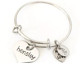 BABY Stainless Steel Bangle Charm Bracelet