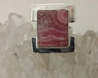 Rhodochrosite Ring Size 6
