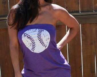 Baseball Shirt. Women's Tube Top. FD Feel Naked Tshirt Tube Tops. Multiple Colors to Choose From. Women's Baseball Top. Girl's Baseball Gear
